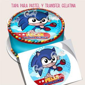Oblea_sonic_pastel_circulo_azul